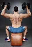 Shoulder workout Stock Image