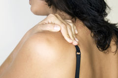Shoulderache woman Royalty Free Stock Image