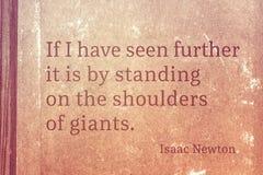 Shoulders of giants Newton Stock Image