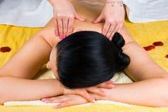 Shoulders massage stock image