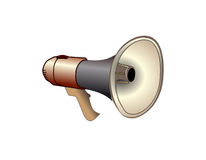 Shout. Metal pipe conical shape, designed for sound reinforcement Stock Images