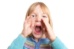 Shout child scream isolated royalty free stock images