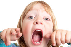 Shout child scream isolated Royalty Free Stock Photography