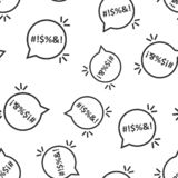 Shout speech bubble icon seamless pattern background. Complain vector illustration on white isolated background. Angry emotion. Business concept stock illustration