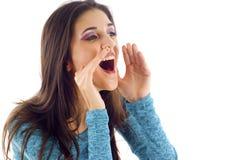 Shouting! Foto de Stock Royalty Free