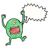 Shouting alien cartoon Stock Image