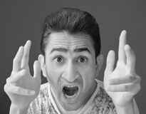Shouting in Anger Royalty Free Stock Images