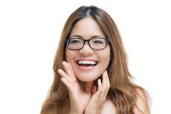 Shouting asiático da mulher Imagens de Stock