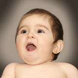 Shouting baby Royalty Free Stock Photography