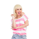 Shouting beauty Royalty Free Stock Images