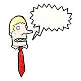 Shouting boss cartoon Royalty Free Stock Photography