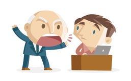 Shouting boss. A boss shouting to an employee vector illustration