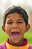 Shouting boy Stock Photo