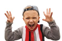 shouting boy Stock Image