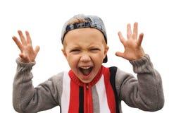 shouting boy Stock Image