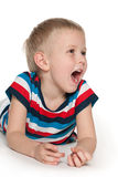 Shouting boy Royalty Free Stock Image
