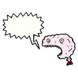 Shouting brain cartoon Royalty Free Stock Images