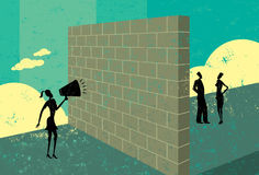 Shouting at a brick wall Stock Image
