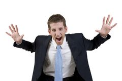 Shouting businessman Royalty Free Stock Photo