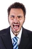 Shouting businessman Stock Photography
