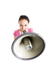 Shouting businesswoman Stock Images