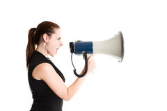 Shouting businesswoman Royalty Free Stock Photo