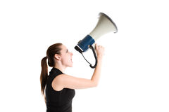 Shouting businesswoman Royalty Free Stock Photos