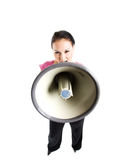 Shouting businesswoman Royalty Free Stock Images