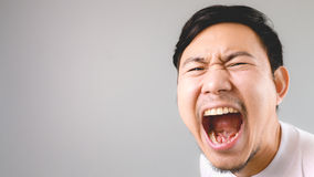 Shouting at the camera. Royalty Free Stock Photo