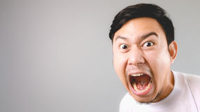 Shouting at the camera. Stock Images