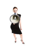 Shouting caucasian businesswoman Royalty Free Stock Photos