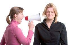 Shouting com um megafone Imagens de Stock Royalty Free