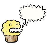 Shouting cupcake cartoon Stock Photo