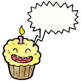 Shouting cupcake cartoon Royalty Free Stock Photo