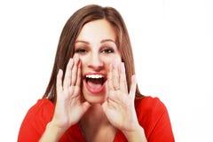 Shouting da rapariga Foto de Stock Royalty Free