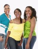 Shouting de três amigos Fotografia de Stock Royalty Free