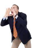 Shouting do homem Imagem de Stock Royalty Free