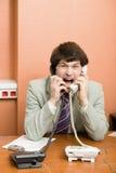 Shouting do homem de negócios Imagem de Stock Royalty Free