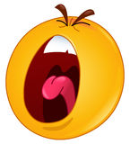Shouting emoticon Stock Photo