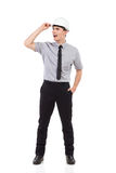 Shouting engineer Royalty Free Stock Image