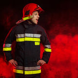 Shouting fireman. Royalty Free Stock Photos