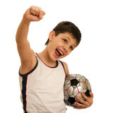 Shouting football fan Royalty Free Stock Photo