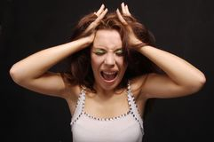 The shouting girl Stock Image