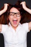 Shouting girl Stock Image