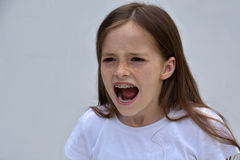 Shouting girl Stock Photography