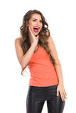 Shouting Girl Royalty Free Stock Images