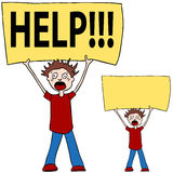 Shouting for Help. An image of a person shouting for help royalty free illustration