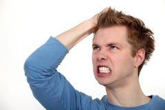 Shouting irritado do homem Fotografia de Stock Royalty Free