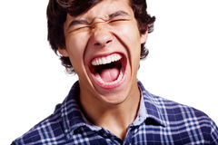 Shouting latin guy closeup Royalty Free Stock Images