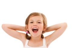Shouting little girl Stock Photo
